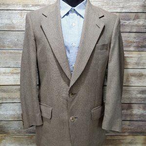 Burberry Men's Blazer Sport Coat Brown/Gold